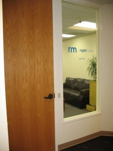 Right Media Eugene Office Door
